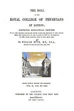 The Roll of the Royal College of Physicians of London: 1701 to 1800