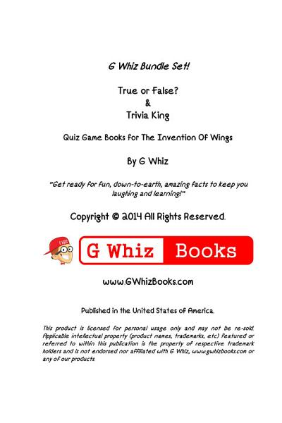 The Invention of Wings - True or False? & Trivia King!