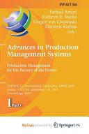 Advances in Production Management Systems PDF