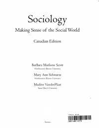 Sociology   Making Sense of the Social World PDF