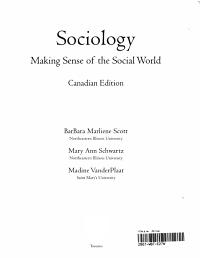 Sociology   Making Sense of the Social World