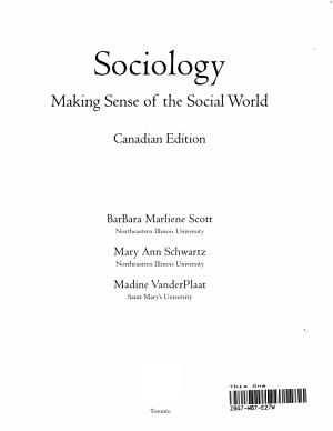 Sociology   Making Sense of the Social World PDF