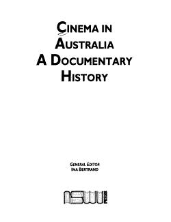 Cinema in Australia PDF
