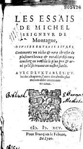 Les essais de Michel seigneur de Montaigne...