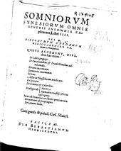 Somniorum Synesiorum omnis generis insomnia explicantes, libri IIII