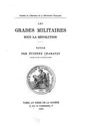 Les grades militaires sous la révolution