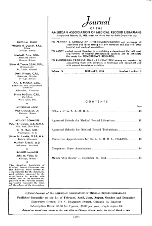 Journal of the American Association of Medical Record Librarians PDF