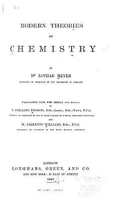 Modern Theories of Chemistry PDF
