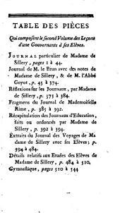 Leçons d'une gouvernante a ses élèves, ou, Fragmens d'un journal: qui a été fait pour l'education des enfans de Monsieur d'Orleéans, Volume2