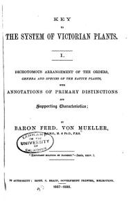 Key to the System of Victorian Plants     PDF