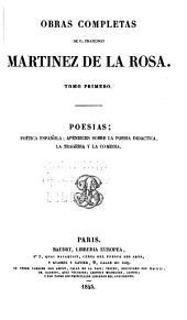 Poesias: poetica española; apéndices sobre la poesia didactica, la tragedia y la comedia