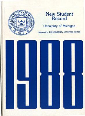 New Student Record  University of Michigan PDF