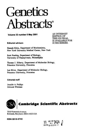Genetics Abstracts PDF