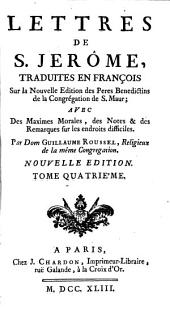 Lettres de S. Jerosme: Volume4