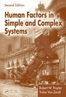 Human Factors in Simple and Complex Systems  Second Edition PDF
