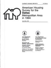 Current Housing Reports: American housing survey for the Dallas metropolitan area in .... H-170, Volume 3