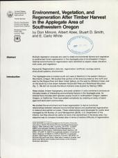 Environment, vegetation, and regeneration after timber harvest in the Applegate area of southwestern Oregon