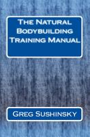 The Natural Bodybuilding Training Manual PDF