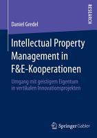Intellectual Property Management in F E Kooperationen PDF