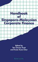 Handbook of Singapore     Malaysian Corporate Finance PDF