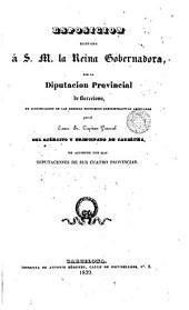 Esposición elevada á S.M. la Reina Gobernadora por la Diputación Provincial de Barcelona, en Justificación de las medidas