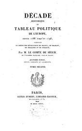"""""""Décade historique"""", ou Tableau politique de l'Europe depuis 1786 jusqu'en 1796, contenant un précis des révolutions de France, de Brabant, de Hollande et de Pologne: Volume2"""
