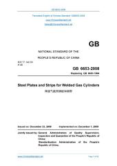 GB 6653-2008: Translated English of Chinese Standard. You may also buy from www.ChineseStandard.net GB6653-2008.: Steel plates and strips for welded gas cylinders.
