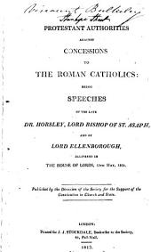 Protestant Authorities Against Concessions to the Roman Catholics