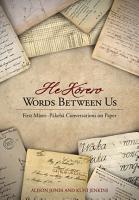 He Korero  Words Between Us PDF