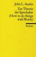 Zur Theorie der Sprechakte PDF