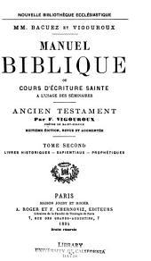Manuel biblique: Ancien Testament