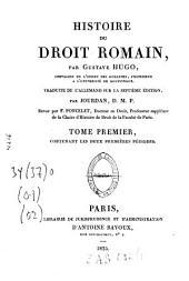 Histoire du droit romain: Volume1
