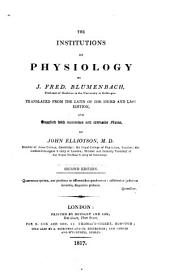 The Institutions of Physiology