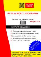 Objective Indian   World Geography PDF