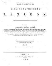 Allgemeines bibliographisches lexikon: Band 2