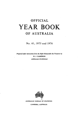 Official Year Book of Australia No  61  1975 PDF