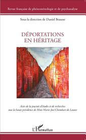 Déportations en héritage: Actes de la journée d'études sous la présidence de M.-J. Chombart de Lauwe