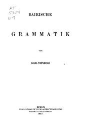 Bairische Grammatik