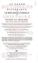 Le Grand Dictionaire Historique ou Le m  lange curieux de L Histoire Sacr  e et profane PDF