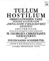 Numam Pompilium Observationibus Varii Generis Illustratum ...