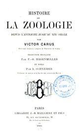 Histoire de la zoologie depuis l'antiquité jusqu'an XIXe siècle