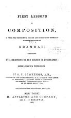 First Lessons in Composition in Connection with the Principles of Grammar PDF