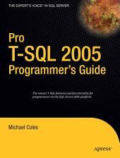 Pro T-SQL 2005 Programmer's Guide