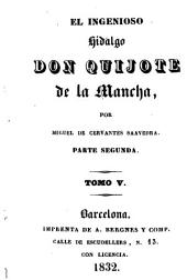 El ingenioso hidalgo Don Quijote de la Mancha: Volumen 5