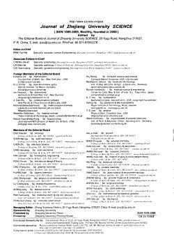 Journal of Zhejiang University PDF