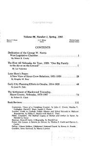 Nebraska History PDF
