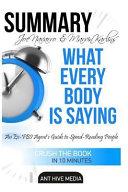 Summaryjoe Navarro & Marvin Karlins' What Every Body Is Saying