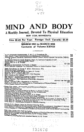 Mind and Body: Volume 28