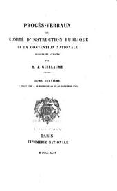 Procès-verbaux du Comité d'instruction publique de la Convention nationale: Volume 101,Partie 2