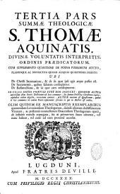 Summa theologica S. Thomae Aquinatis in tres partes ab auctore distributa post Lovaniensium atque Duacensium theologorum operam repurgata [in cuius initio praefixi sunt duo indices]